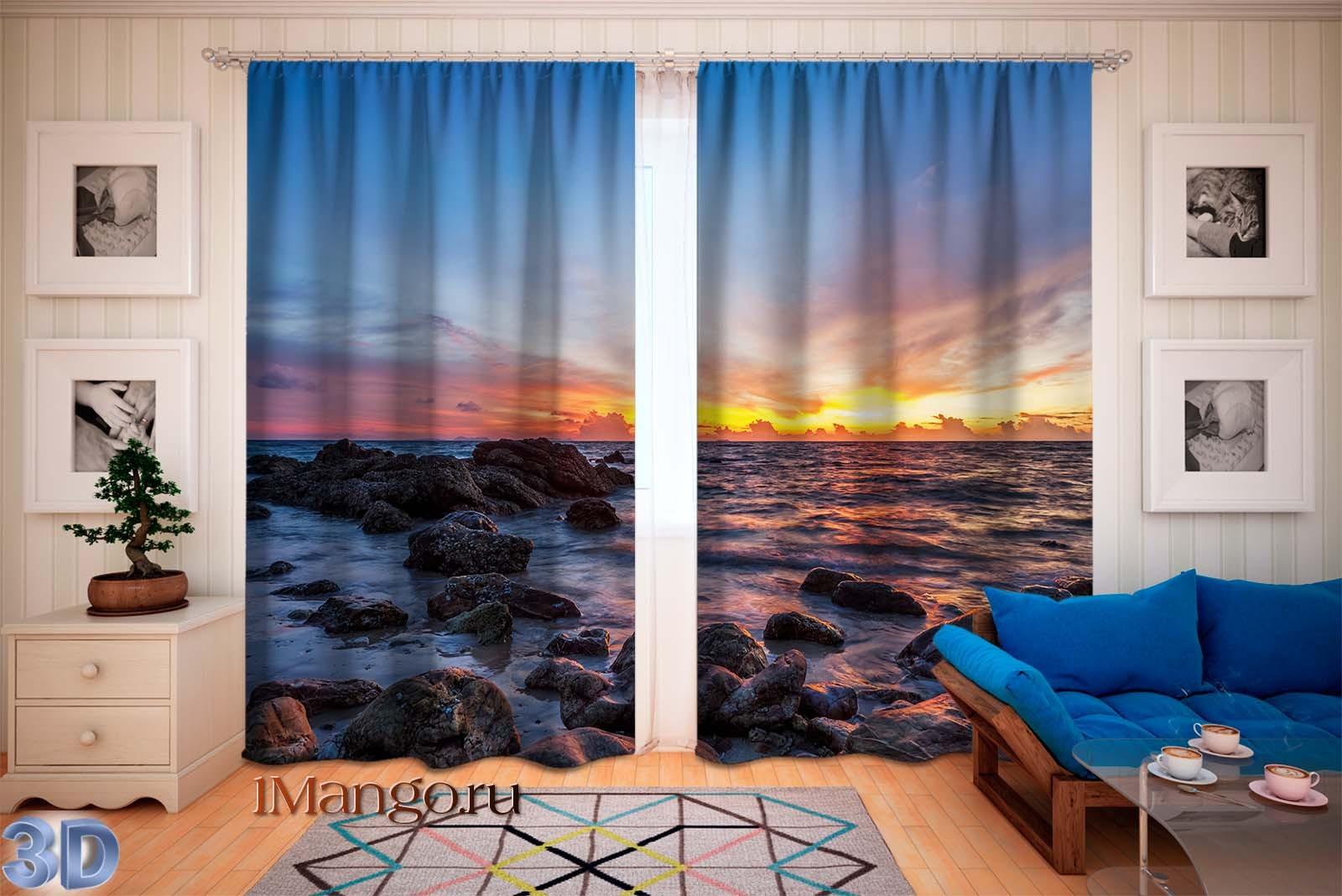 Фотошторы Красивый закат над морем