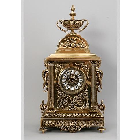 Часы бронзовые каминные прямоугольные Чаша