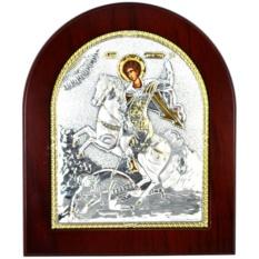 Чудо Димитрия Солунского. Икона в серебряном окладе.