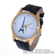 Часы Mitya Veselkov Париж с черным ремешком