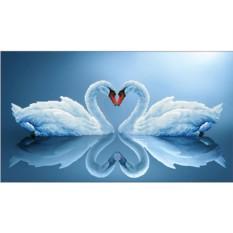 Алмазная вышивка «Лебединая пара»