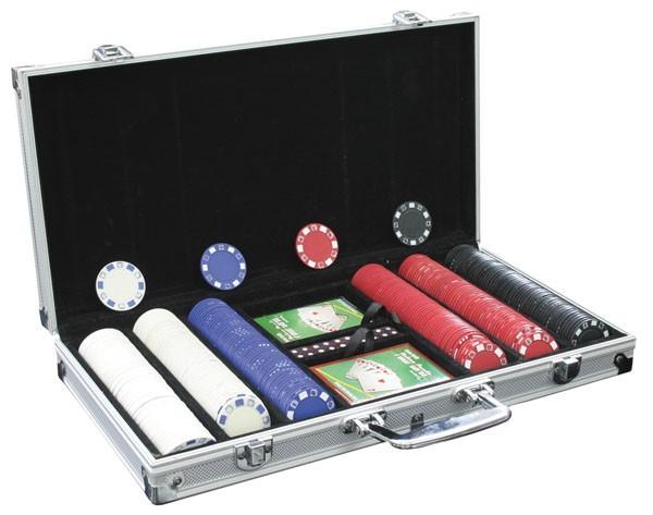 Набор для покера в алюминиевом кейсе, 300 фишек