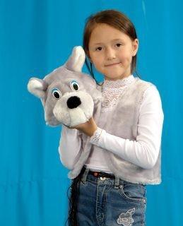 Карнавальный костюм Волк (головной убор, жилет)