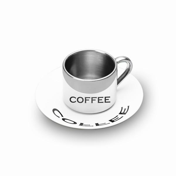 Кружка анаморфированная с блюдцем Coffee