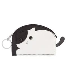Кошелек-брелок Черно-белый кот