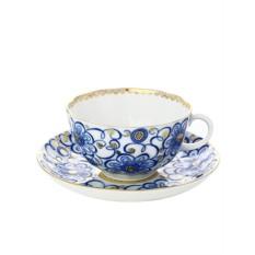 Фарфоровая чайная чашка с блюдцем Вьюнок