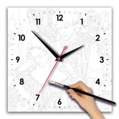 Квадратные часы-раскраска Влюбленные