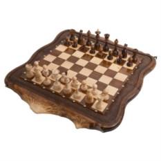 Резные шахматы и нарды Арарат с бронзой от Ohanyan