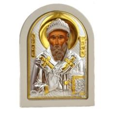 Серебряная икона Святитель Спиридон Тримифунтский