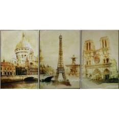 Картина с кристаллами Сваровски Париж