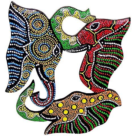 Настенное панно «Три слона»