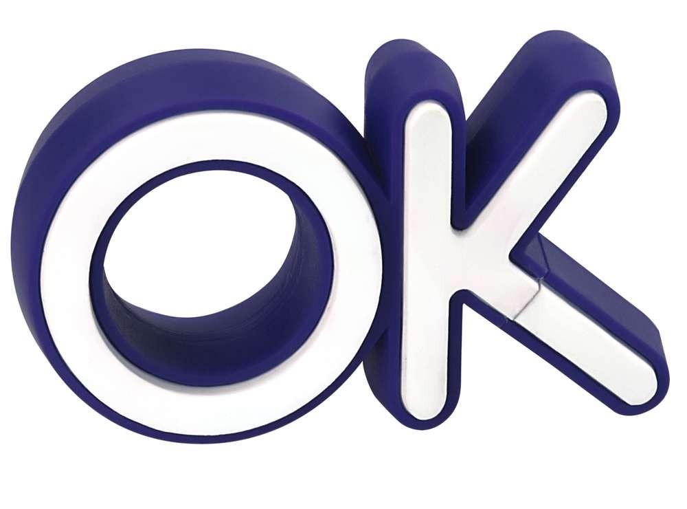 Флешка OK, синяя, 4 Гб