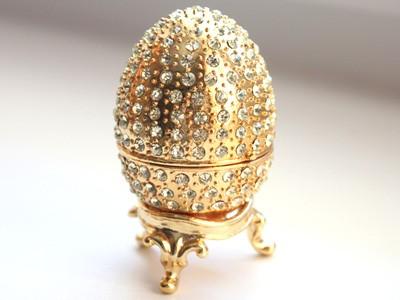 Шкатулка со стразами Золотое яйцо