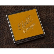 Карманное зеркальце, коллекция Elole Design (желтый)