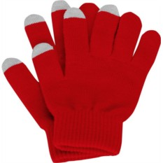 Перчатки для сенсорного экрана, красные, размер S/M