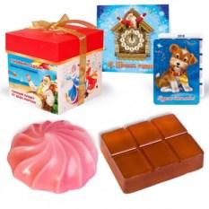 Подарочное мыло ручной работы «Зефир и шоколад»