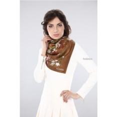 Женский шелковый платок с цветочным принтом Valentino