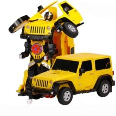 Радиоуправляемый робот-трансформер Jeep Rubicon Yellow