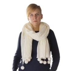 Женский белый шарф-палантин Emotion