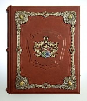 Родословная книга «Ювелирная Модерн», с накладкой «Дворянский герб»