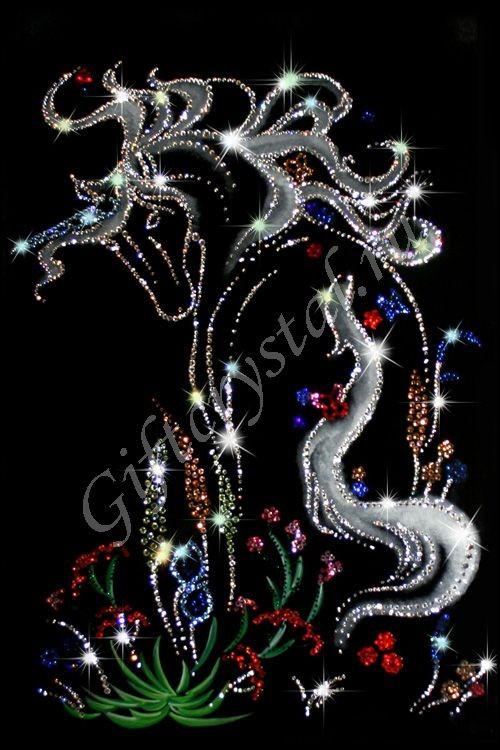 Картина с кристаллами Swarovski Сказка