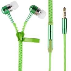 Зеленые наушники на молнии Zipper