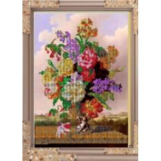 Набор для вышивания бисером Садовые цветы от Светлица