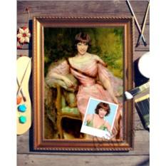 Портрет по фото Девушка в розовом