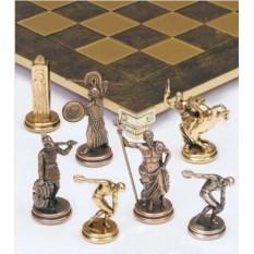 Шахматы с металлическими фигурками Олимпийские игры