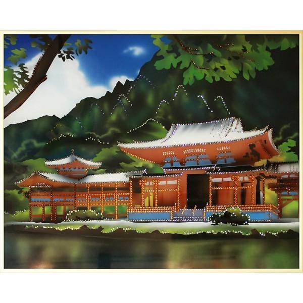 Картина с кристаллами Swarovski Японский домик,
