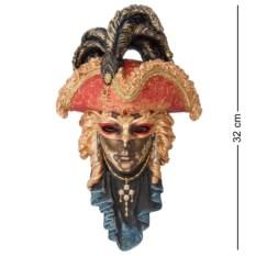 Венецианская маска Треуголка (цвет — оранжевый)
