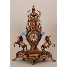 Часы из бронзы Пара лошадей