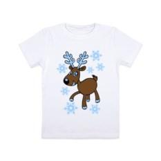 Детская футболка Олень и снег