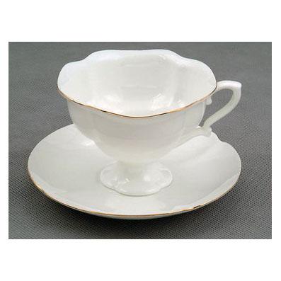 Чашка с блюдцем «Золотая лента»