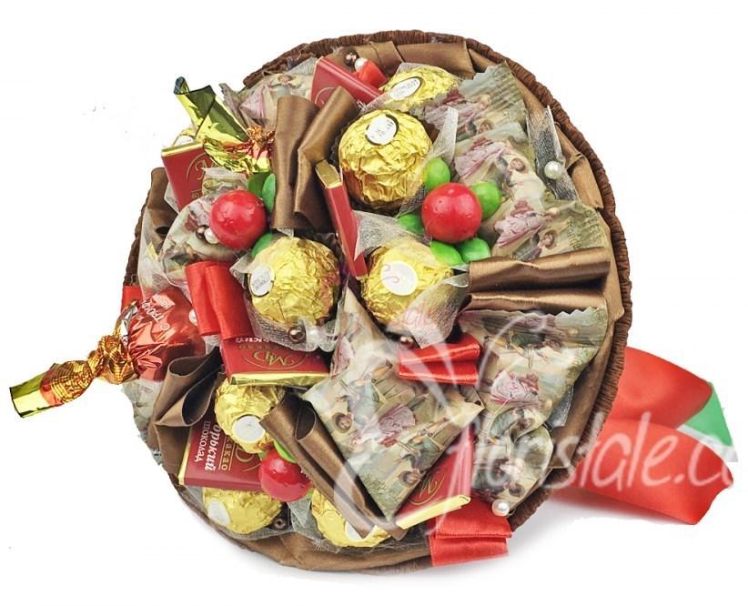Букет из конфет Микс шоколадный (цвет: коричневый)