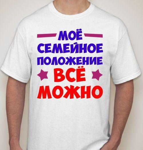 Мужская футболка Мое семейное положение