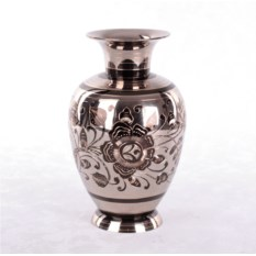 Латунная ваза (цвет: серебристый)