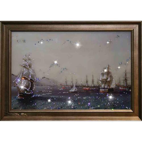 Картина с кристаллами Swarovski Военный флот
