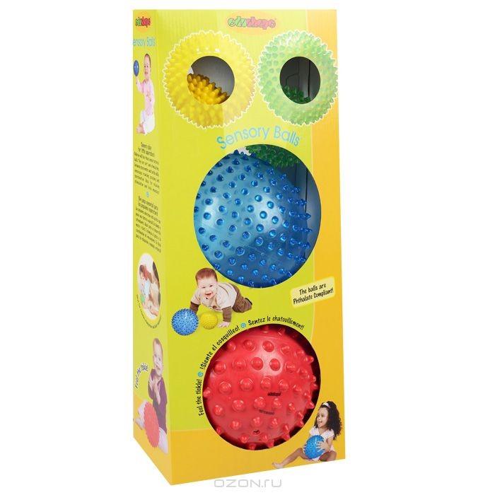 Набор детских массажных мячей Edushape Sensory Balls, 4 шт