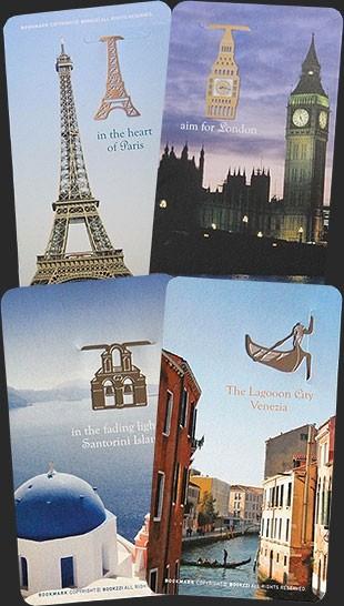 Комплект из 4 закладок Достопримечательности городов