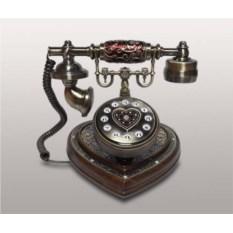 Кнопочный деревянный ретро-телефон Kit