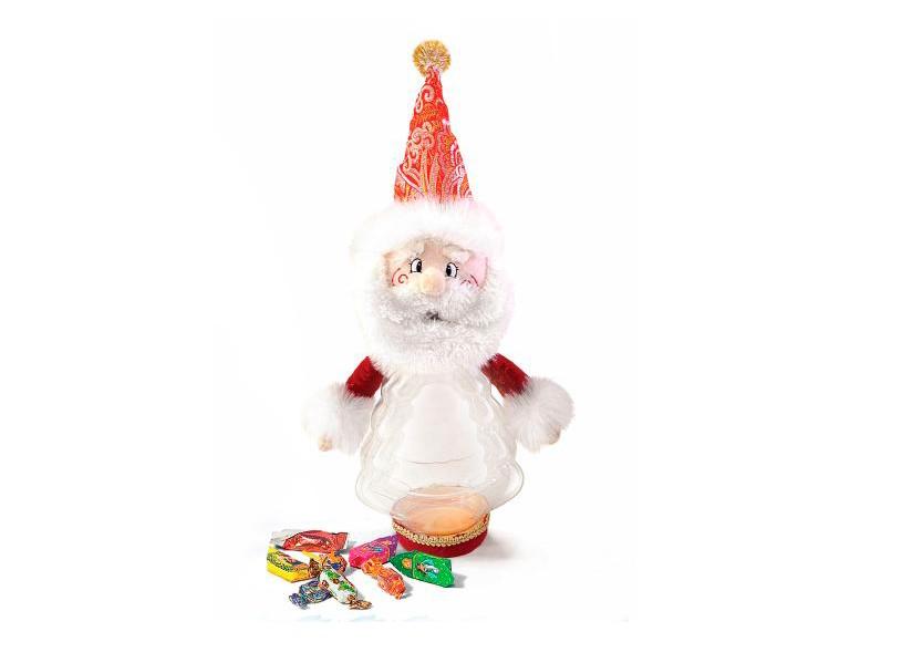 Новогодний подарок Дед Мороз (текстиль)
