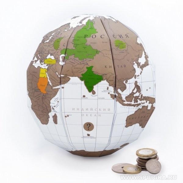 Глобус путешествий со скретч слоем TrueWorld