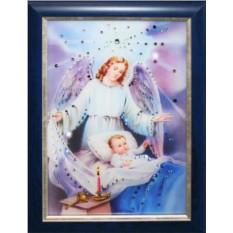 Картина с кристаллами Сваровски Ангел-Защитник
