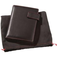 Черный блокнот с красной отделкой Viaggi