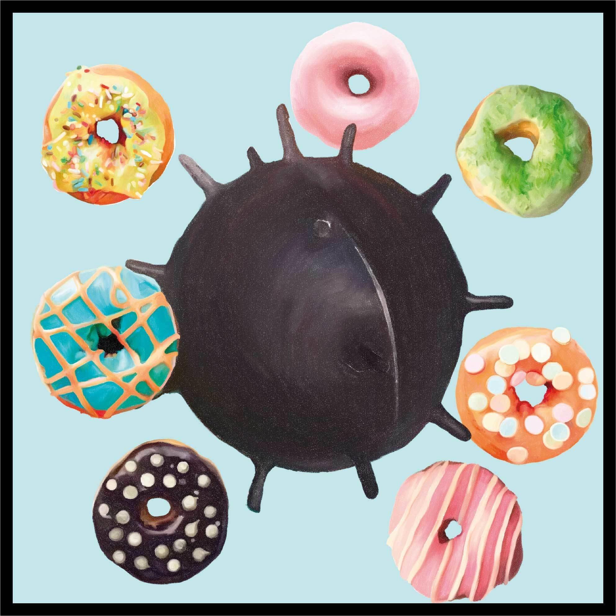 Шифоновый платок SEVEN DONUTS AND ONE BOMB