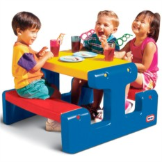 Большой стол с двумя скамейками LittleTikes