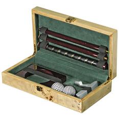 Набор для игры в гольф в деревянной шкатулке