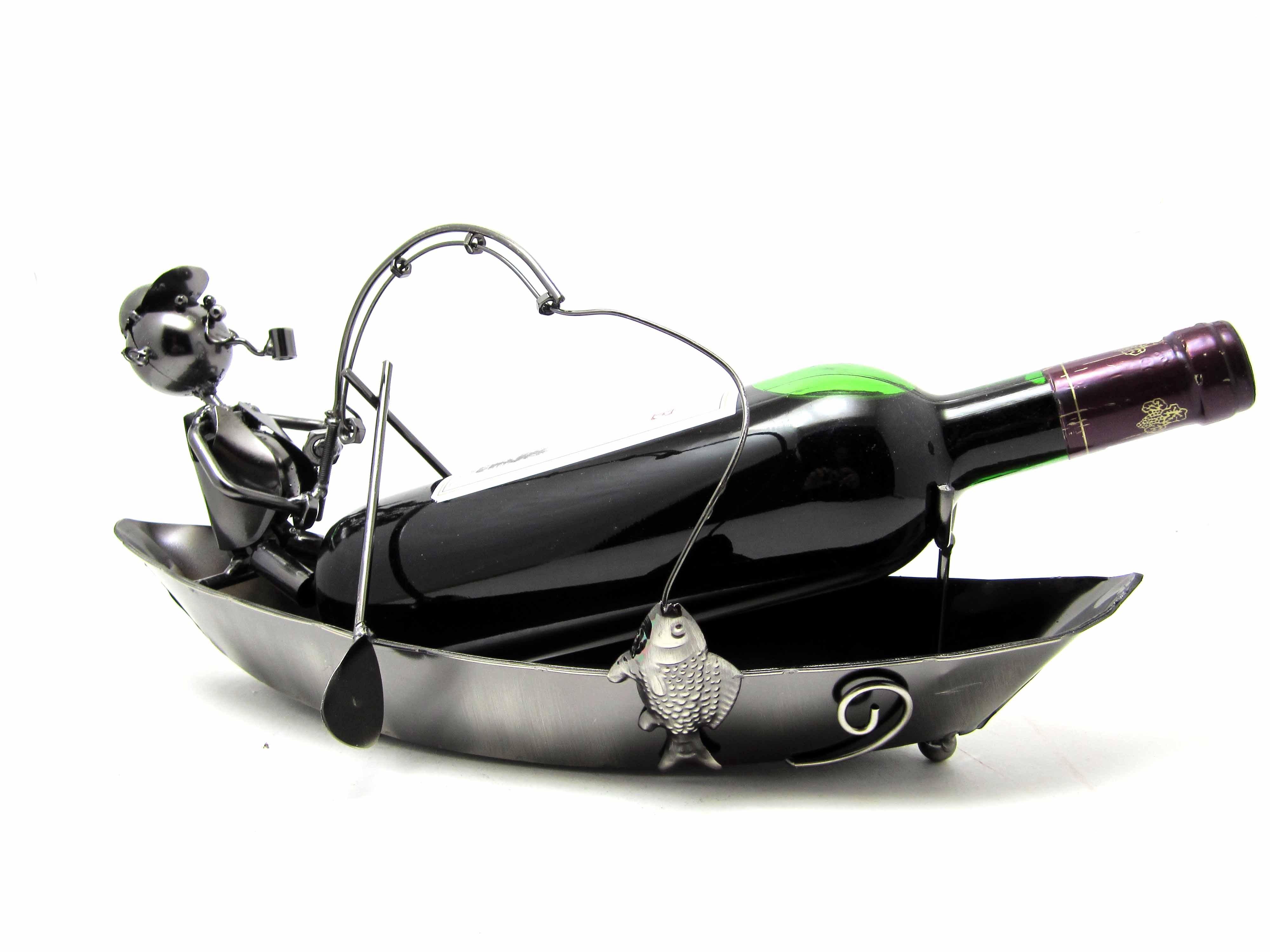 Подставка под бутылку Рыбак в лодке
