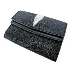 Многофункциональный кошелек из ската (цвет - черный)